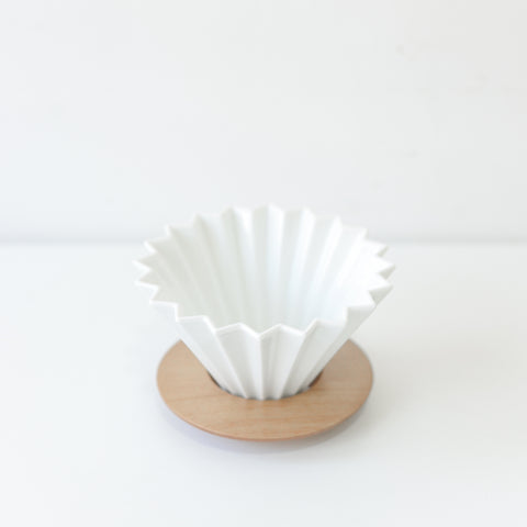 ORIGAMI Coffee Dripper (Medium) White - Urban Coffee Roaster
