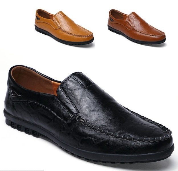 Real Leather Men's Business/Casual Shoes-Sh-9-10