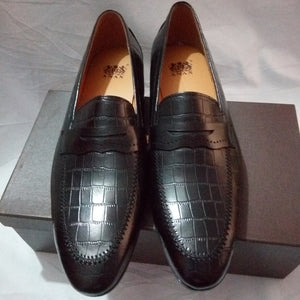 Exotic Elegance Patterned Leather Men's Shoes --CH-SH-20