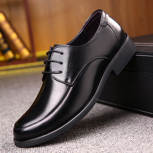 The Corporate Man Solid Leather Shoes -- MF-Sh-2