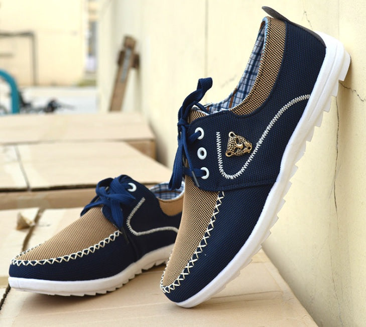 The Trendy Man Men's Casual Canvas Shoes With Lace-Sh-22