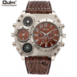 Oulm Multi-Disk Unique Look Wrist Watch -- WW-16
