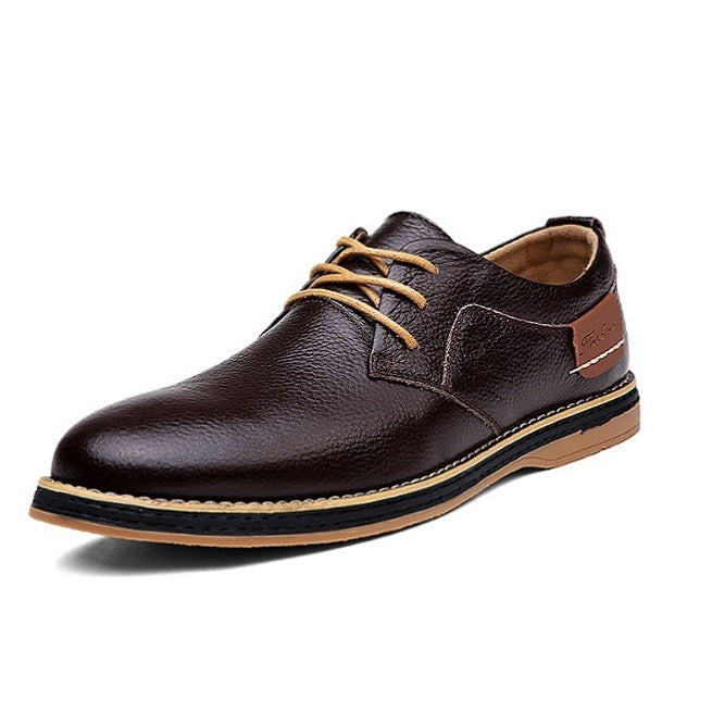 Men's Oxfords Leather Formal Shoe With Round Toe-Sh-7