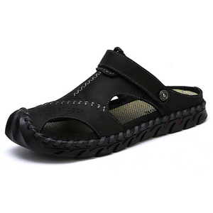 Ruggedy Men's Convertible Leather Sandals Slippers--SnP-10