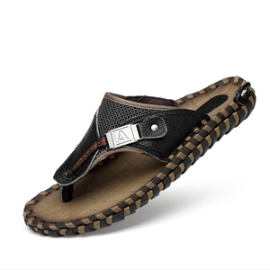 Men's Casual Summer Leather Flip Flops--Snp-5