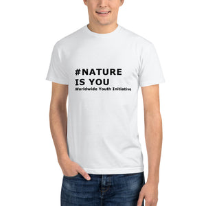 Nature is you mens' T-Shirt - Worldwide Youth for Environment Mouvement