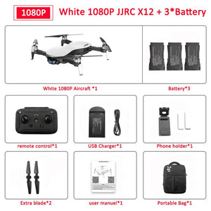 Drone JJRC X12 Anti-shake 3 Axis Gimble GPS Drone with WiFi FPV 1080P 4K HD Camera