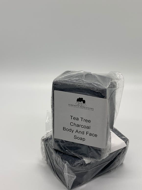 TEA TREE AND CHARCOAL FACE AND BODY SOAP