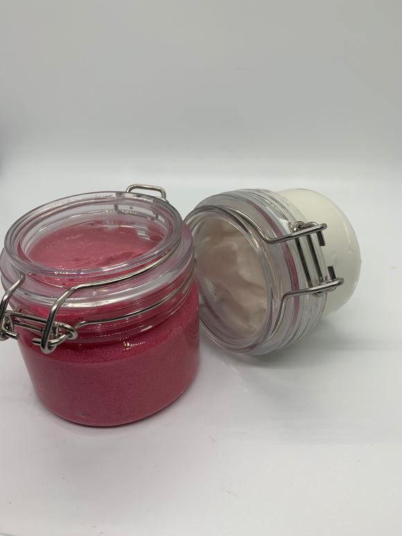 PINK & FLIRTY BODY BUTTER &SCRUB
