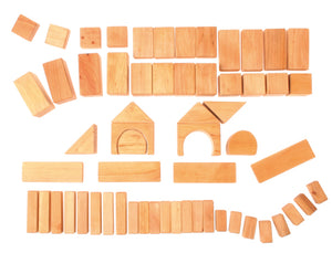 Blocks Geometrical, Natural 60 pcs.
