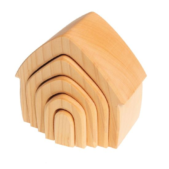 Grimm's House in natural wood - 5 pcs.