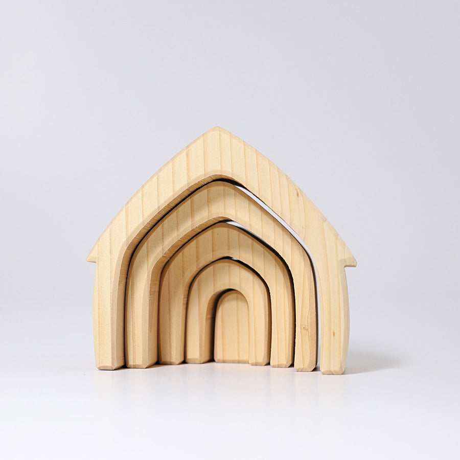 House, natural 5 pcs.