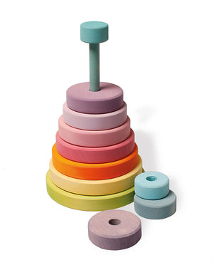 Stacking Conical Tower Large, Pastel
