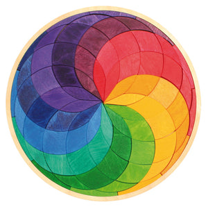 Mini Puzzle Coloured Spiral Circle