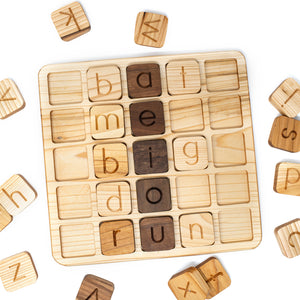 Alphabet Cube Board with Alphabet Cubes (A-Z) 26 letters