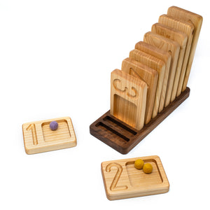 Wooden Number Tray (10 PCS)