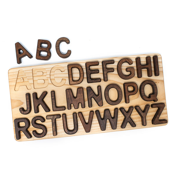 Walnut Natural Alphabet Puzzle