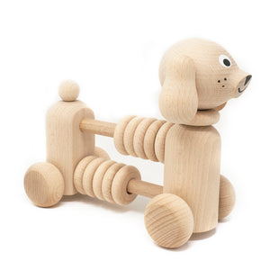 Wooden Toy Abacus Push Puppy
