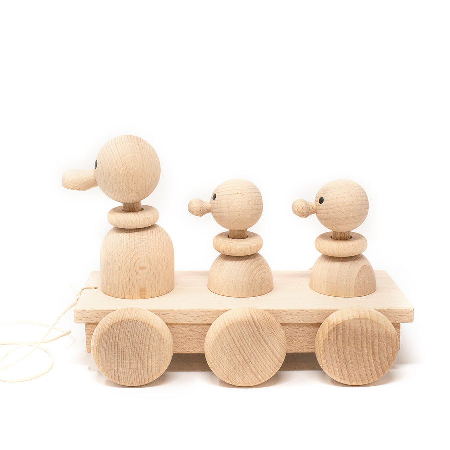 Wooden Pull Along Ducks