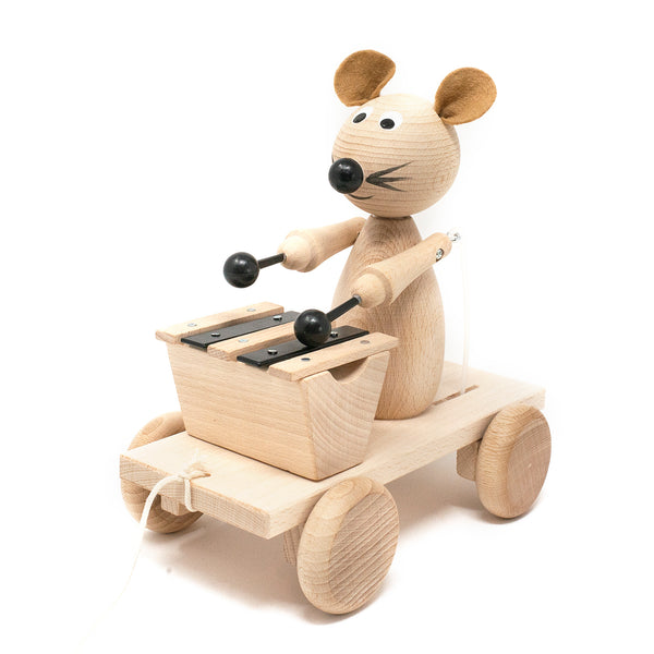 Wooden Pull Along Mouse with Xylophone