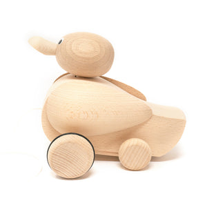 Wooden Pull Along Quacking Duck