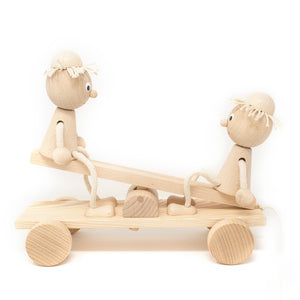 Wooden Sea Saw with Boys