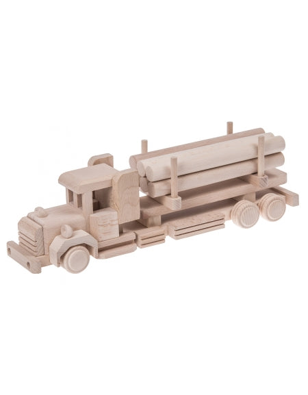 Wooden Semi With Logs