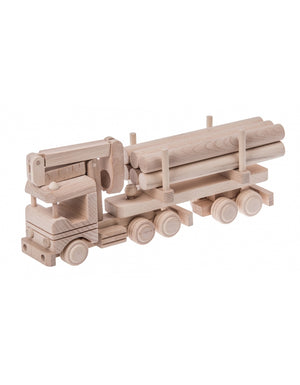 Wooden Semi With Loader