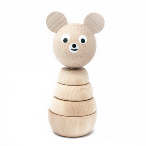 Wooden Stacking Bear