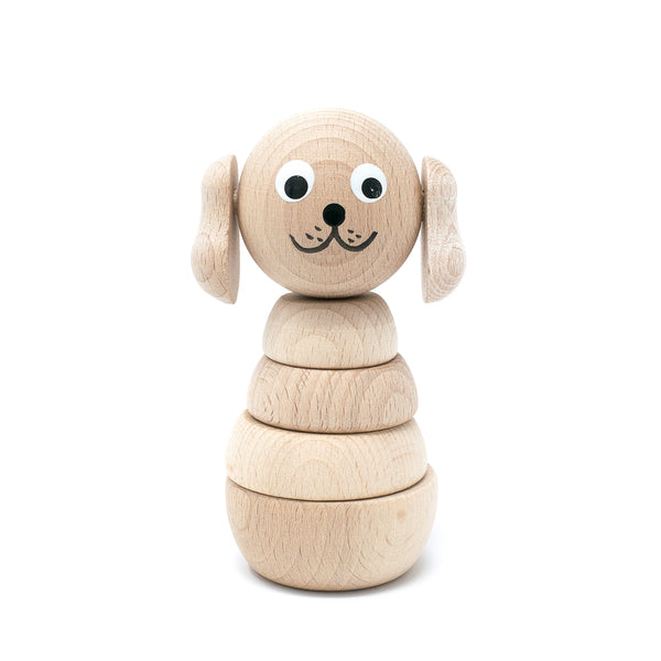 Wooden Stacking Puppy