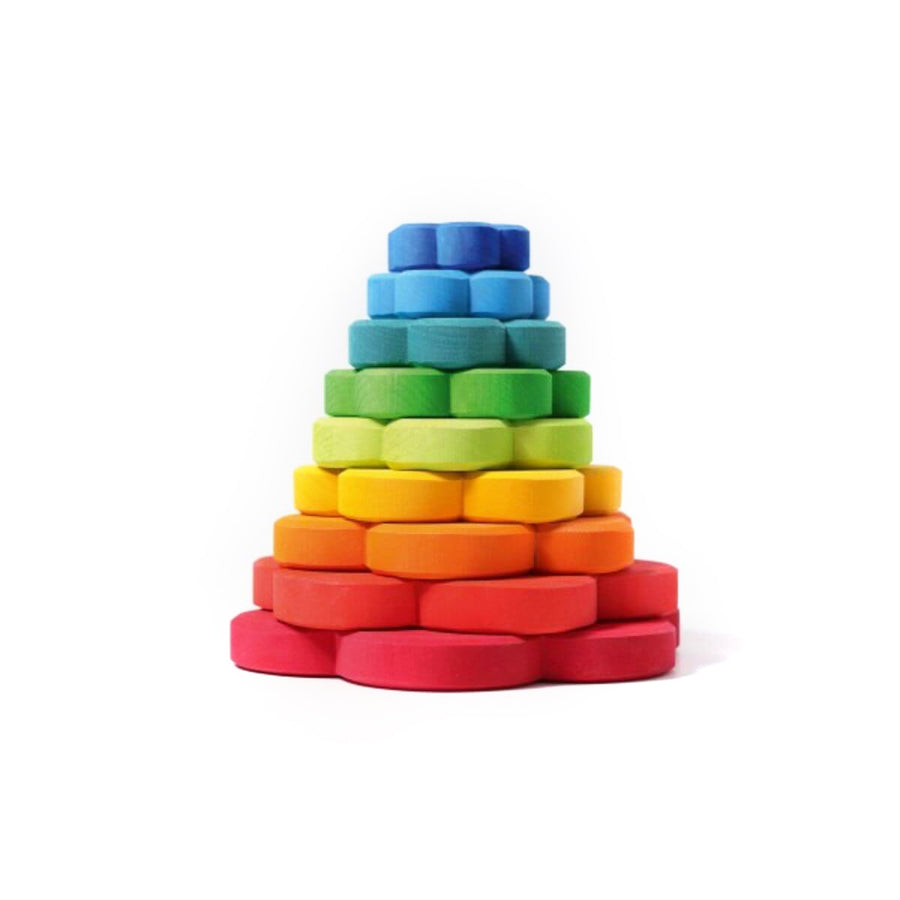 Grimm's deco flower stacking tower