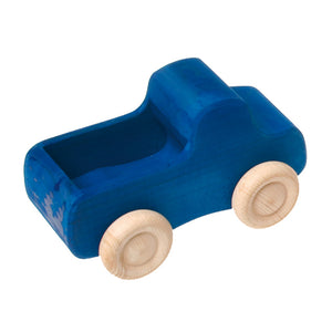 Wooden Truck, Small Blue