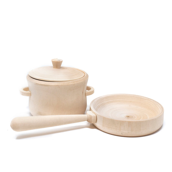 Wooden Pot and Pan