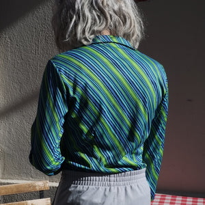 70s Green/Blue Striped Shirt