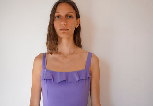 90's Vintage Lilac Shift Dress