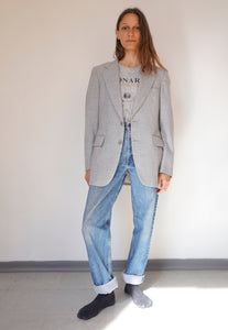 Vintage Unisex Blazer Tailored Jacket Oversized