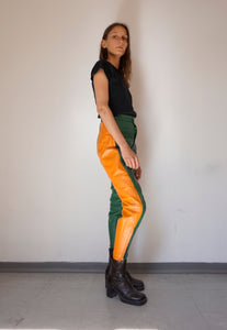 Vintage Unisex Leather Biker Pants