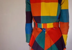 Vintage Brightly Coloured Blazer / Jacket 1970's