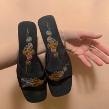 Load image into Gallery viewer, Vintage Embroidered Mules