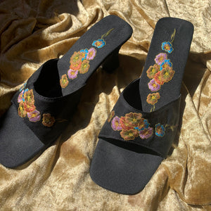 Vintage Embroidered Mules