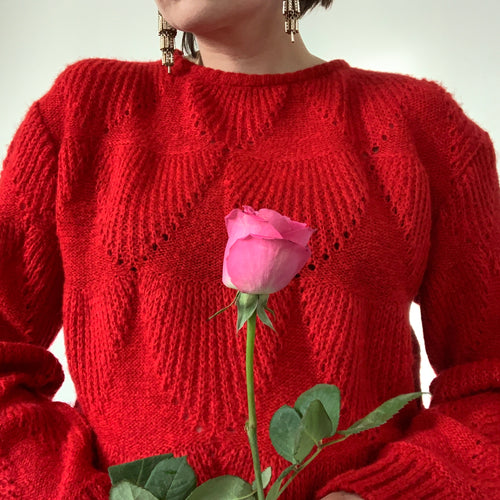 Vintage Scallop Knit Jumper