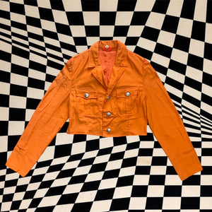 Vintage Customised Overdyed Orange Military Jacket