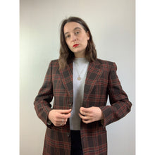 Load image into Gallery viewer, 70s Brown/Red Checkered Blazer