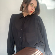 Load image into Gallery viewer, Vintage Balloon Sleeve Sheer Shirt