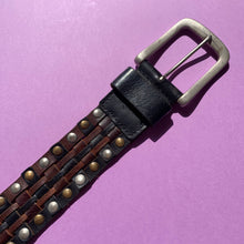 Load image into Gallery viewer, 1980's Studded Leather Belt