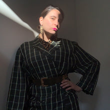 Load image into Gallery viewer, 80s Vintage Unisex Oversized Checked Blazer