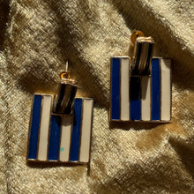 Load image into Gallery viewer, Vintage enamel earrings