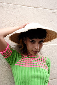 1970's Knitted Top in Neon