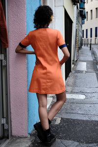 Vintage Orange Mini Dress