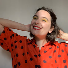 Load image into Gallery viewer, Vintage Unisex Polka Dot Shirt